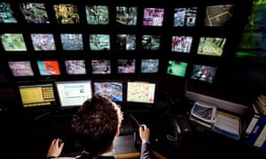 CCTV screens at Westminster council