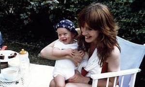 Julie Myerson with her oldest son as a baby