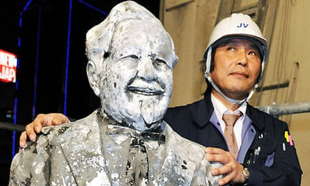 The Colonel Sanders statue retrieved from a river in Osaka after 24 years
