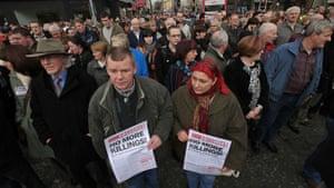 Belfast peace rally: Residents gather in Belfast
