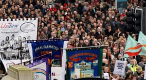 Belfast peace rally: Some of the thousands of people who gathered at Belfast City Hall