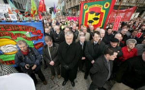 Belfast peace rally: Thousands of people during a silent protest at Belfast City Hall