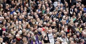 Belfast peace rally: Peace rally in Belfast