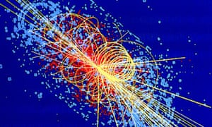 Simulated trace of a Higgs boson