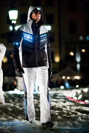 Solar clothing: solar-powered lights in ski suits