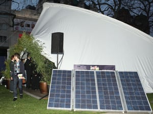 Age of stupid: Film Premiere:  Solar panels powered Cinema