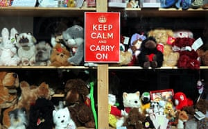 Keep Calm and Carry On: The sign in a toy shop in Woodbridge
