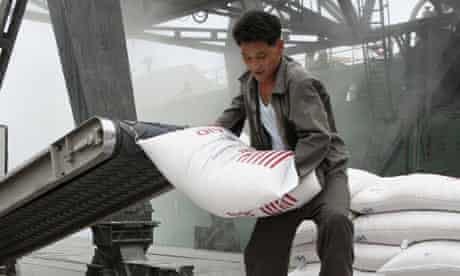 Food aid delivered to North Korea