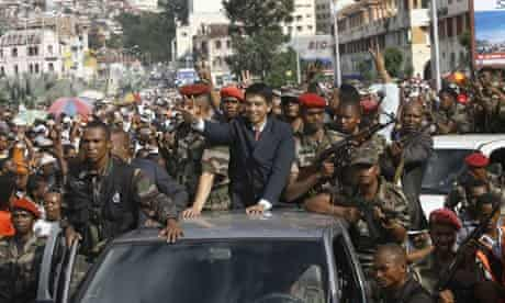 Madagascar president Andry Rajoelina takes the leadership by force