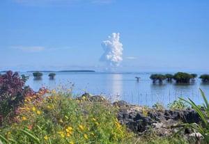 Volcano eruption in Tonga: Undersea Volcano Erupts Off Of Tonga