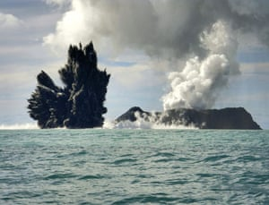 Volcano eruption in Tonga: Smoke is seen after an underwater volcano erupted in Hunga Ha'apai