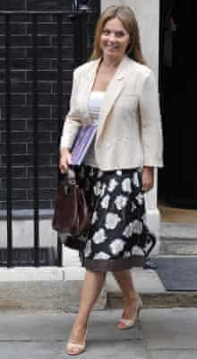 Geri Halliwell leaving No 10 Downing Street