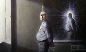 Portrait of Peter Higgs, originator of the Higgs boson or 'god particle'
