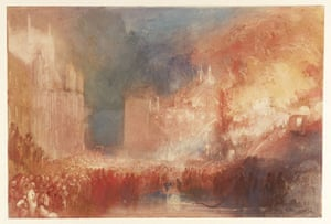 Google and Tate: The Burning of the Houses of Parliament by JMW Turner