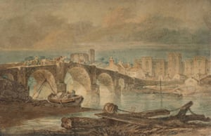 Google and Tate: Cardiff Bridge and Castle 1795-6 by Joseph Mallord William Turner