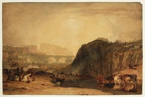 Google and Tate: Edinburgh from Calton Hill exhibited 1804 by Joseph Mallord William Turner