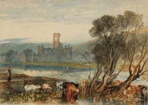 Google and Tate: Kirkstall Abbey, on the River Aire 1824 by Joseph Mallord William Turner