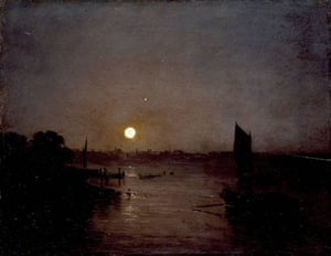 Google and Tate: Moonlight, a Study at Millbank exhibited 1797 by JMW Turner