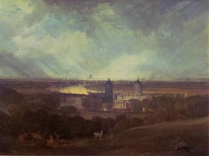 Google and Tate: London from Greenwich Park exhibited 1809 by Joseph Mallord William Turner