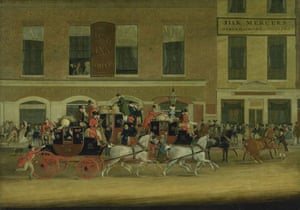 Google and Tate: The Royal Mail Coaches for the North Leaving the Angel, Islington 1827