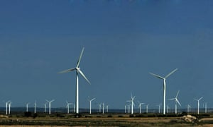 A wind farm in La Muela, Spain