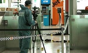 Scene of suspected biker brawl at Sydney airport