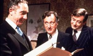 Nigel Hawthorne, Paul Eddington and Derek Fowlds in Yes Minister