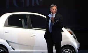 Ratan Tata unveiling the Nano