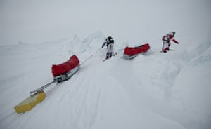 Catlin Arctic Survey: Pen Hadow and Ann Daniels