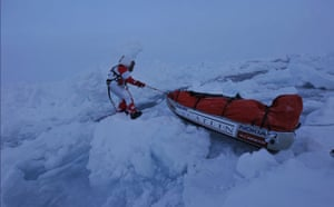 Catlin Arctic Survey: Struggling with sledge