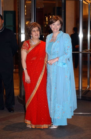 Muslim women: Pinky Lilani with Cherie Blair