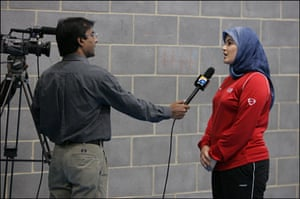 Muslim women: Rimla Akhtar being interviewed