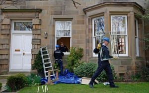 Goodwin  house vandalised: the home of sir fred goodwin is vandalised