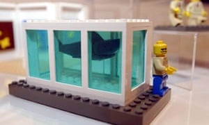 A lego model of artist Damien Hirst by The Little Artists.