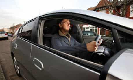 Sam Wollaston test driving a Honda Insight hybrid car