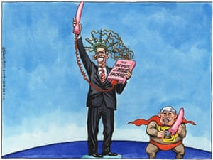 26.03.09: Steve Bell on Obama and Brown's take on global economy