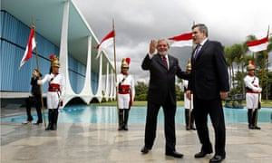 Gordon Brown with Brazilian President Luiz Inacio Lula da Silva