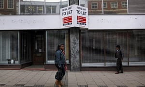As the recession bites, shops are closed in Nottingham