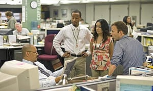 The newsroom in the final season 5 of The Wire