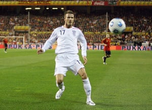 England Kits: David Beckham England 2009