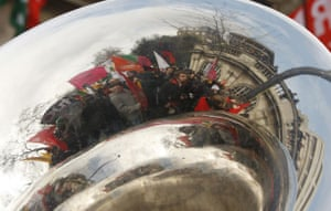 G20: Demonstrators march through central London