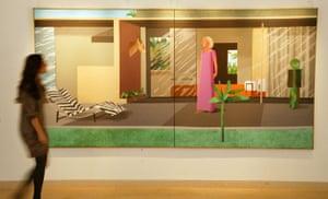 art week: David Hockney painting 'Beverly Hills Housewife'