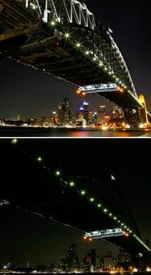 Sydney Harbour Bridge during Earth Hour