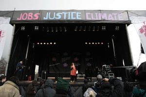 g20 night: Bianca Jagger at the Put People First march