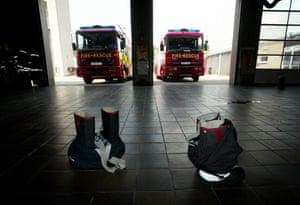 Firefighter uniforms: Blue Watch firefighters' uniforms