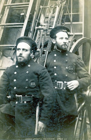 Firefighter uniforms: 1890: Two London firemen ready for action