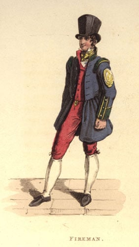 Firefighter uniforms: 1780: An 18th century fireman