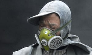 Chinese cement factory worker