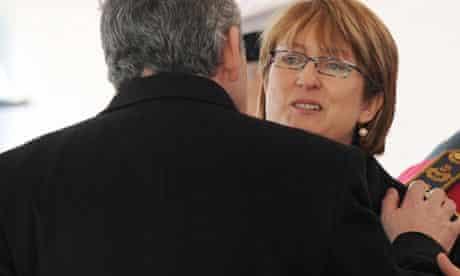 Jacqui Smith and Gordon Brown
