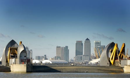 Thames Barrier in the Thames Estuary, Woolwich, London, Britain - 09 Nov 2007